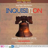 Play Reading Series! Inquisition by Robert Hilliard