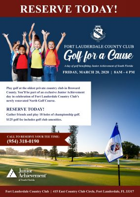 "Fort Lauderdale Country Club's ""Golf For A Cause..."