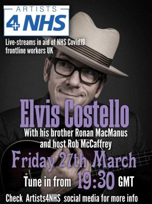 Elvis Costello Virtual Live Broadcast