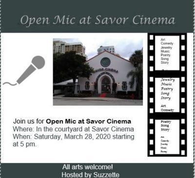 CANCELED - Open Mic at Savor Cinema