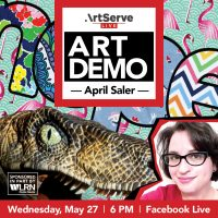 ArtServe Art Demo with April Saler