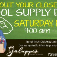 Clean Out Your Closet School Supply Drive