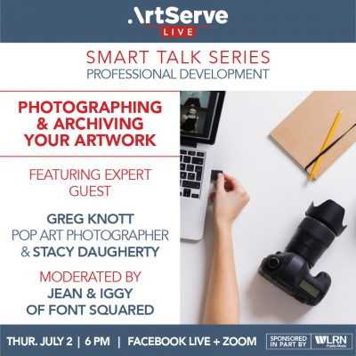 Smart Talk Series: Photographing & Archiving Your Artwork