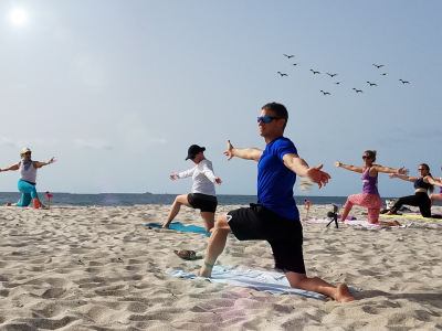 Labor Day Beach Yoga- Ft Lauderdale