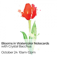 Visiting Artist Workshop: Blooms in Watercolor Notecards
