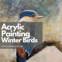 Acrylic Painting Winter Birds