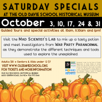 Saturday Specials at the Museum - October