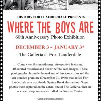 """History Fort Lauderdale Presents """"Where the Boys Are"""" 60th Anniversary Film Photo Exhibition"""