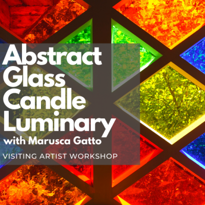 Abstract Glass Candle Luminary ( Visiting Artist W...