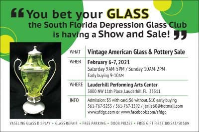 Vintage American Glass & Pottery Show and Sale...