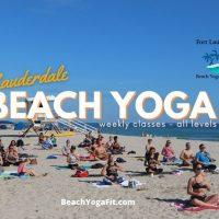 Wednesday Beach Yoga Ft Lauderdale
