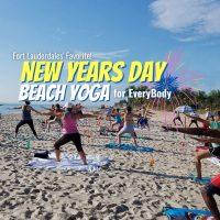 New Year's Day Beach Yoga