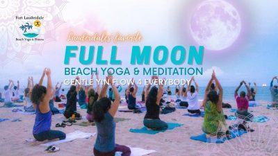 Full Moon Beach Yoga- Ft Lauderdale