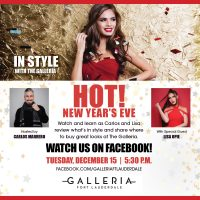 New Year's Eve Fashion on the Next In Style with The Galleria Virtual Series on Dec. 15