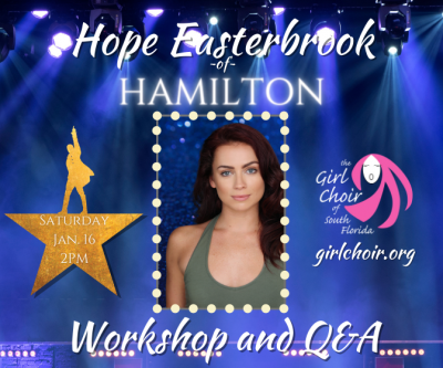 Workshop and Q&A with Hamilton's Hope Easterbrook