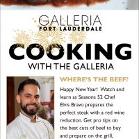 Cooking with The Galleria Free Facebook Live with Chef Elvis Bravo on January 12 at 2 p.m.