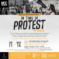 MCC and The Box Gallery present: In Time of Protest art exhibition