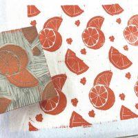 Virtual Pattern Block Printing on Fabric