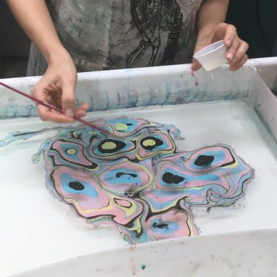 Virtual Suminagashi Paper Marbling *Kid Friendly*