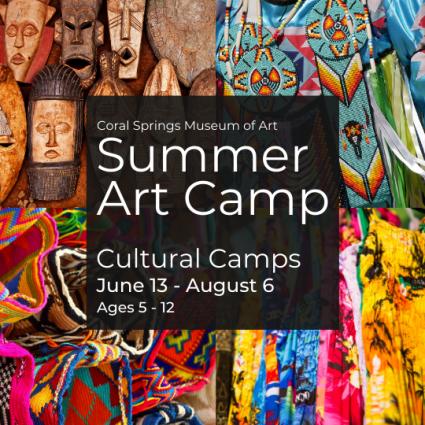 Summer Art Camps - Cultural Camp ages 5-12