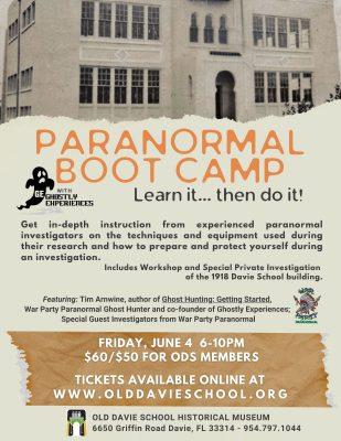 Paranormal Boot Camp