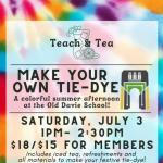 Teach & Tea: Make Your Own Tie-Dye