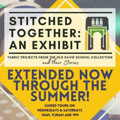 Stitched Together: An Exhibit - EXTENDED NOW THROUGH SUMMER!
