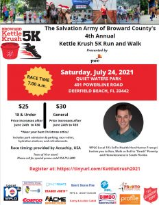 The Salvation Army of Broward County's Kettle Krush 5K presented by PwC on July 24