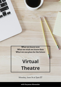 VIRTUAL THEATRE- A PAY-WHAT-YOU-LIKE BEST PRACTICES EVENT