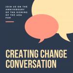 CREATING CHANGE Conversation for Neurodiversity, D...