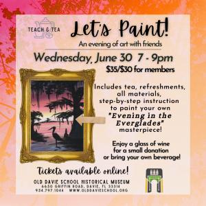 Teach & Tea: Let's Paint!