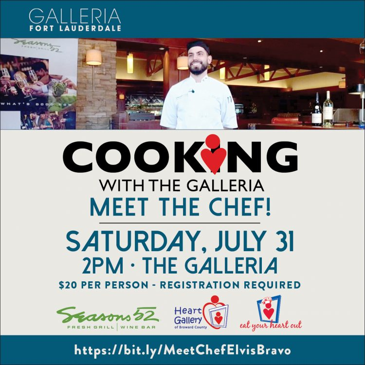 Meet Chef Bravo at Cooking with The Galleria Benef...