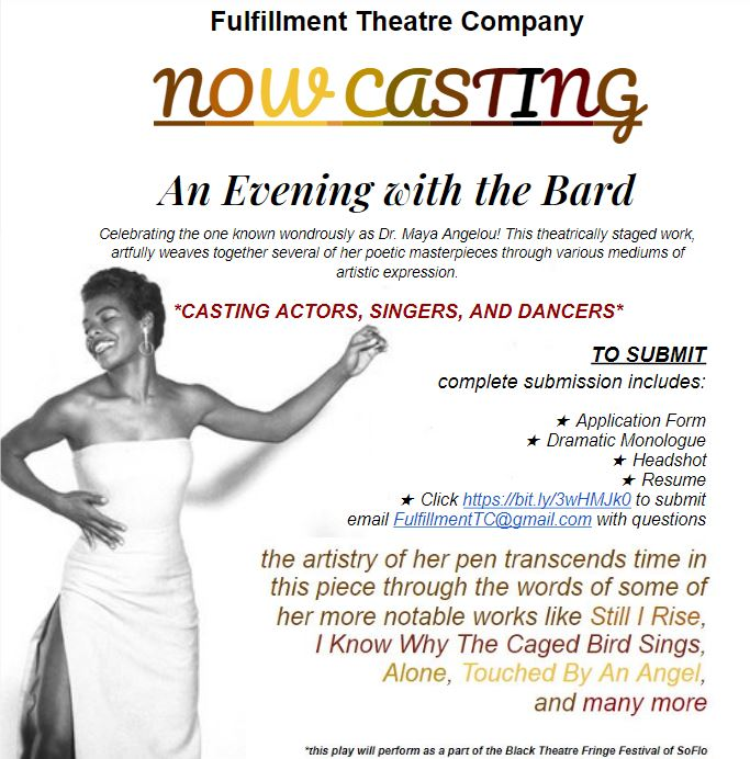 An Evening with the Bard AUDITIONS