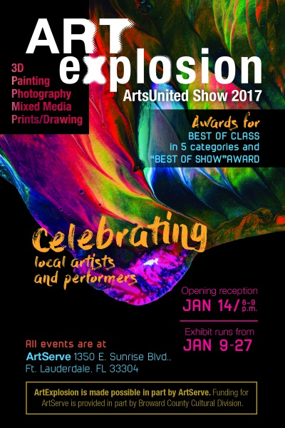 Calendar Maker Art Explosion : Art explosion opening reception presented by artsunited