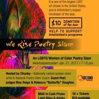 We Rise Poetry Slam