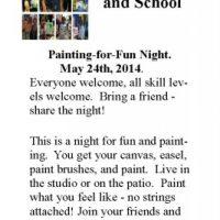 Paint-For-Fun Night Larry Joe Miller Gallery