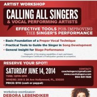 COACHSINGERS PRESENTS: EFFECTIVE TOOLS FOR IMPROVING THE SINGER'S PERFORMANCE ARTIST WORKSHOP