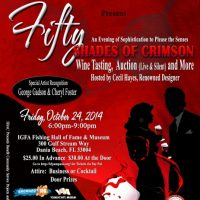 FIFTY SHADES OF CRIMSON - Wine Tasting & Silent/Live Art Auction and More
