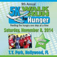 9th ANNUAL 5K WALK/RUN FOR HUNGER : Feeding the hungry one step at a time