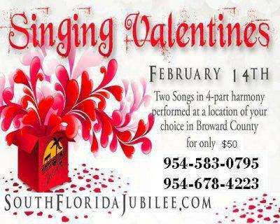 singing valentines presented by south florida jubilee chorus artscalendarcom - Singing Valentine