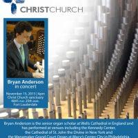 Bryan Anderson, Organ Concert