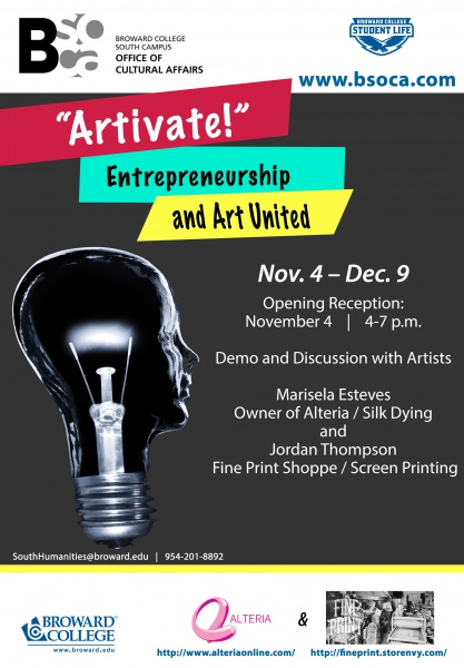Art Calendar Broward : Quot artivate entrepreneurship and art united presented by