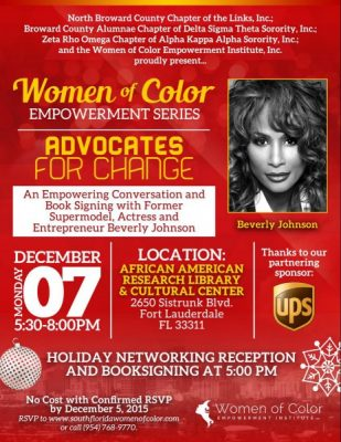 Women of Color Empowerment Series Advocates for Change presented by UPS -  ArtsCalendar.com