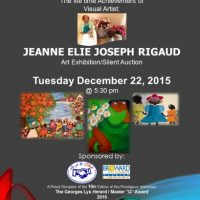 The life time Achievement of Visual Artist: JEANNE ELIE JOSEPH RIGAUD