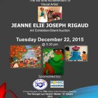 The life time Achievement of Visual Artist: JEANNE ELIE JOSEPH RIGAUD