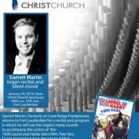 Garrett Martin Organ Recital and Silent Movie