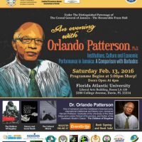 Renowned Harvard Sociologist Dr. Orlando Patterson to Speak at FAU