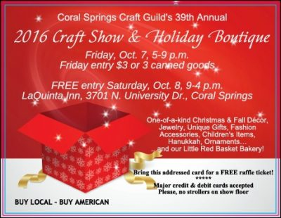 Coral Springs Craft Guild Annual Holiday and Craft Show