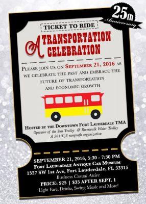 A Transportation Celebration – Celebrating 25 Years!