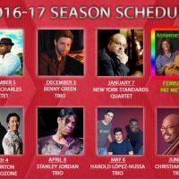 South Florida JAZZ Schedule 2016-17.